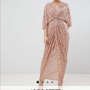 ASOS Petite Sequin Dress ( Dusky Blush )